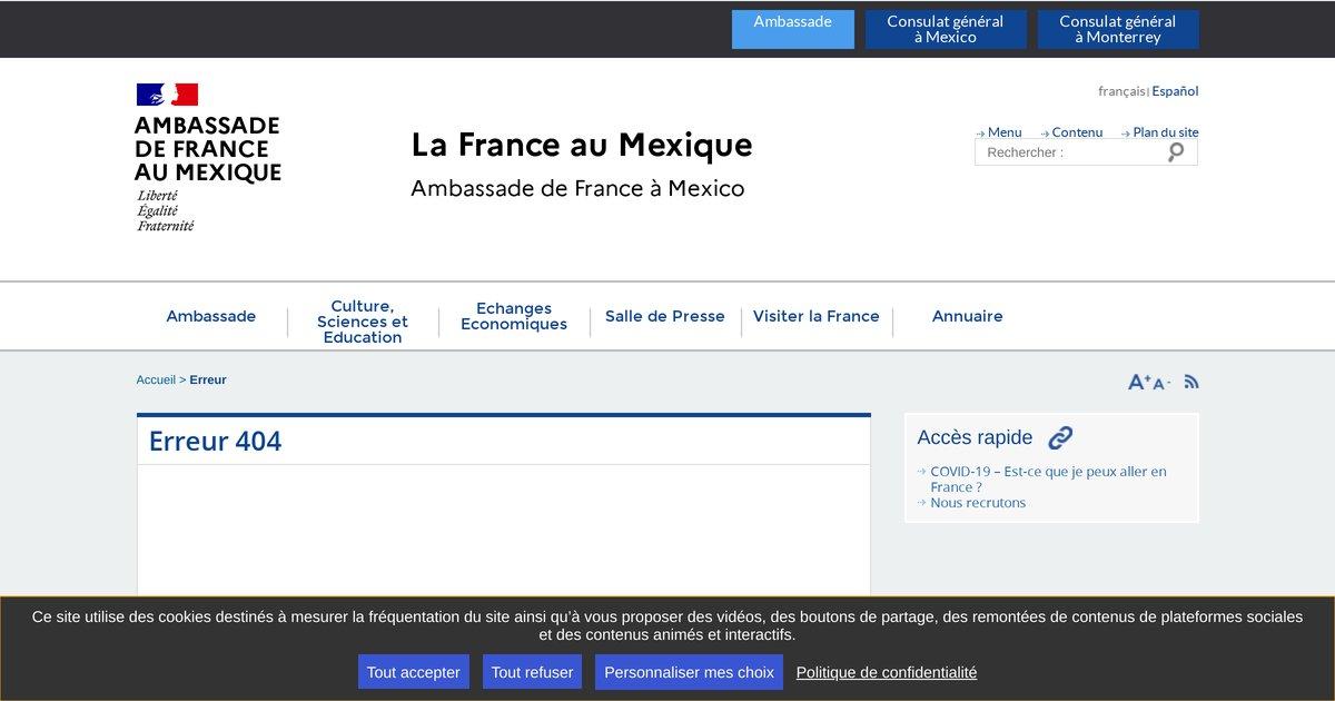 """""""Ambassade de France à Mexico"""""""