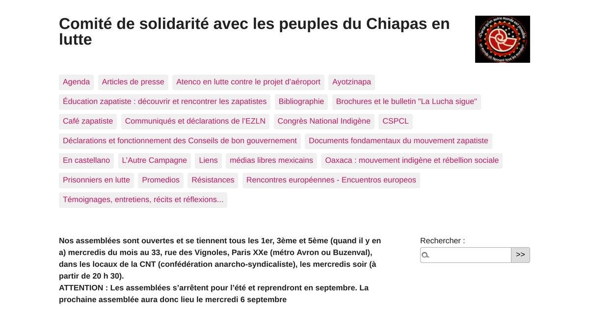 """""""Comité de solidarité avec les peuples du Chiapas en lutte"""""""