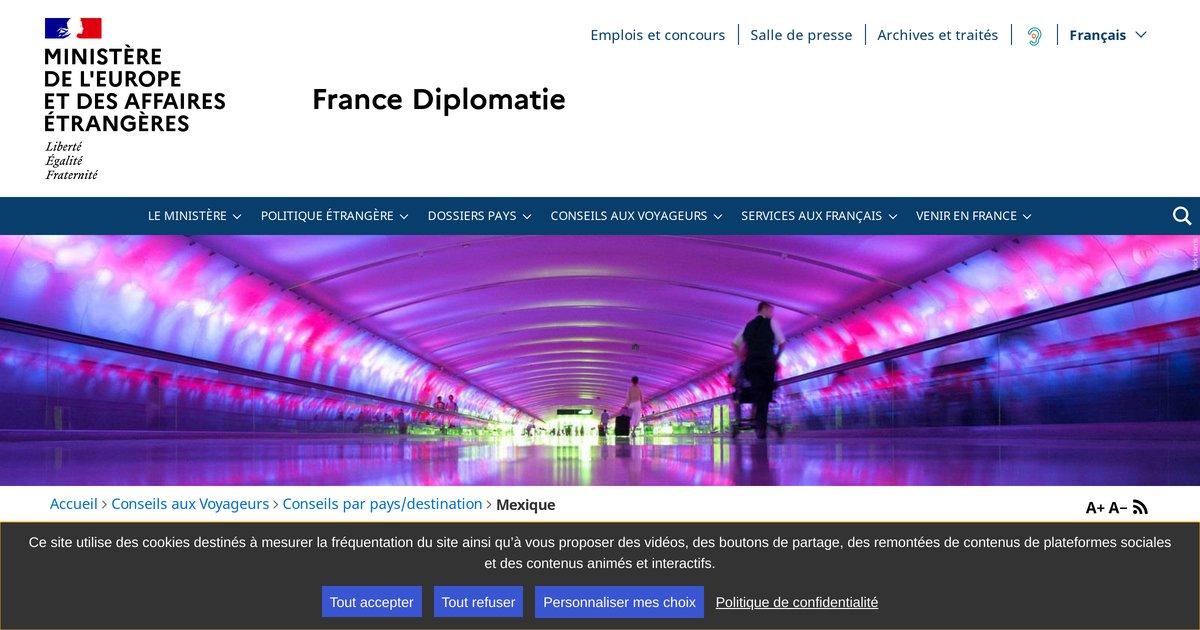 """""""France-Diplomatie - Ministère des Affaires étrangères et du Développement international"""""""