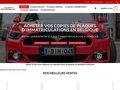 Détails : Plaque immatriculation belge