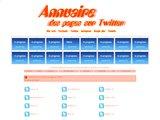 Annuaire des pages sur Twitter