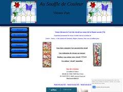 Détails : Au souffle de couleurs - vitraux d'art