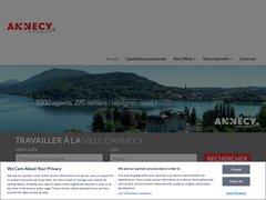 Détails : Offres d'emploi de la commune d'Annecy