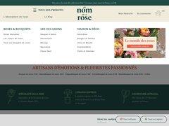 Aperçu du site Au Nom De La Rose
