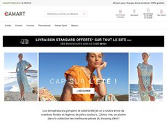 Aperçu du site Damart