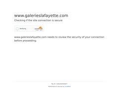Aperçu du site Galeries Lafayette