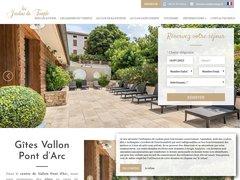 Gîtes locations vacances ardèche à vallon pont d'arc - Les jardins du temple