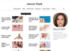 Aperçu du site Manucure Beaute