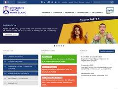 Détails : Université de Savoie