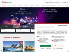 Aperçu du site Voyages Auchan