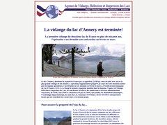 La vidange du Lac d'Annecy