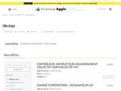Détails : Offre d'emploi Annemasse Agglo