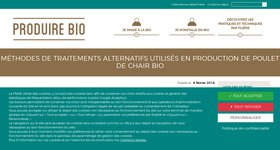 Méthodes de traitements alternatifs utilisés en production de poulet de chair bio