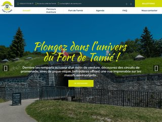 Création du site Fort de Tamié accrobranche