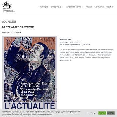 """""""Association pour l'Estampe et l'Art Populaire"""""""