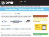 Combine Your CSS Media Styles Into One File