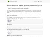 Python internals: adding a new statement to Python