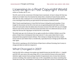 Licensing in a Post Copyright World