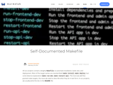 Self-Documented Makefile