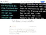 Self-Documented Makefile