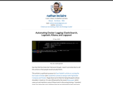 Automating Docker Logging: ElasticSearch, Logstash, Kibana, and Logspout
