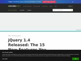 jQuery 1.4 Released: The 15 New Features you Must Know