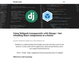 Using Webpack transparently with Django + hot reloading React components as a bonus