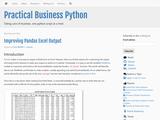 Improving Pandas's Excel Output