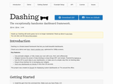 The exceptionally handsome dashboard framework.