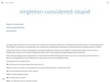 singleton-considered-stupid - steveyegge2