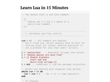 Learn Lua in 15 Minutes