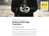 Medium-Style Article Transition