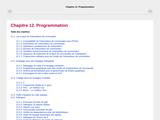Chapitre 12. Programmation