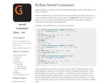 SortedContainers - sortedcontainers 1.5.4 documentation