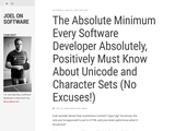 The Absolute Minimum Every Software Developer Absolutely, Positively Must Know About Unicode and Character Sets (No Excuses!)