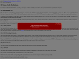 Status Code Definitions