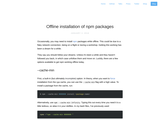 Offline installation of npm packages