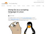 Using Go as a scripting language in Linux