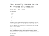 The Brutally Honest Guide to Docker Graphdrivers