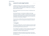 Lessons for early stage founders