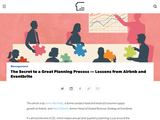 The Secret to a Great Planning Process - Lessons from Airbnb and Eventbrite