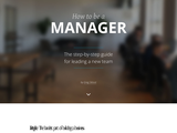 How to be a Manager