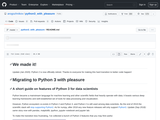 python3_with_pleasure/README.md at master · arogozhnikov/python3_with_pleasure · GitHub
