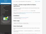 Grocker - a Docker image builder for Python applications