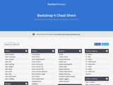 Bootstrap 4 Cheat Sheet