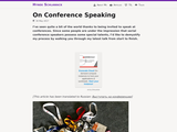 On Conference Speaking
