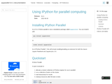 Using IPython for parallel computing