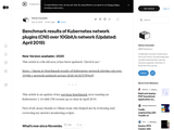 Benchmark results of Kubernetes network plugins (CNI) over 10Gbit/s network (Updated: April 2019)