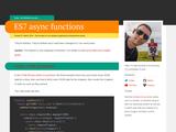 ES7 async functions