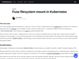 Fuse filesystem mount in Kubernetes